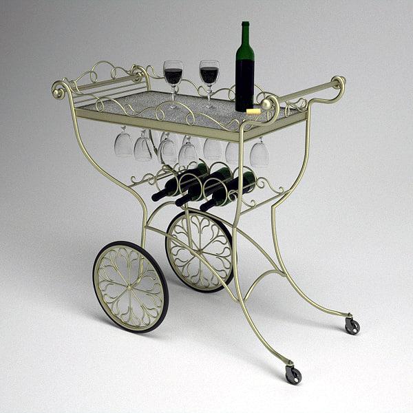 3ds max wine cart
