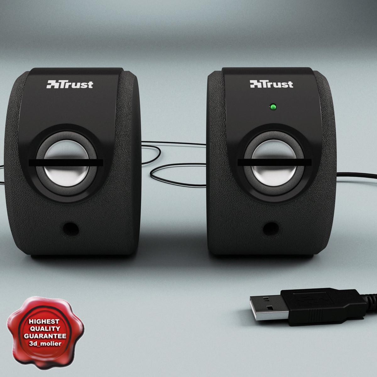 pc acoustic systems trust 3d model