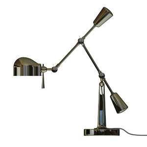 3d model boom arm desk lamp