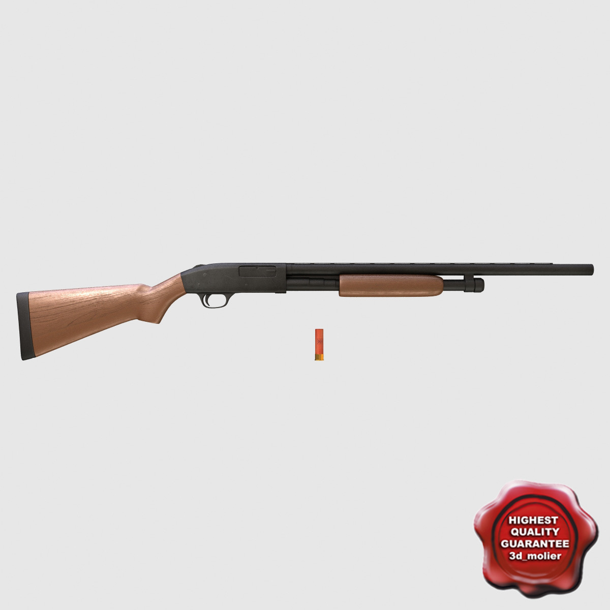 3d model shotgun mossberg 500