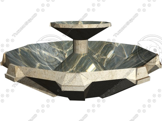 water fountain 3d max