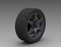 Wheel-Tire Front 3D CAD