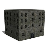 victorian workhouse 3d model