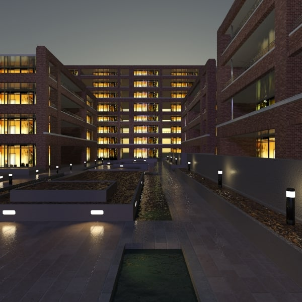 max building courtyard