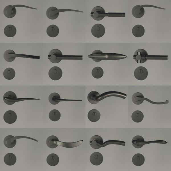 3d model handles locks