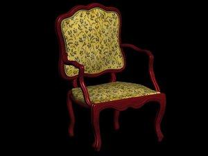 luxury executive chair 3d model