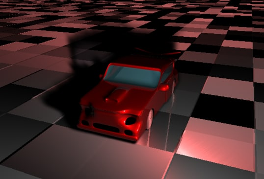 3d red car model