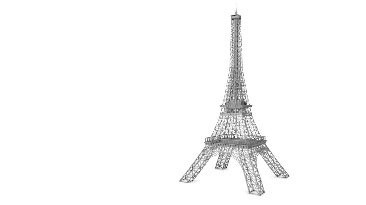 eiffel tower model template - maya eiffel tower