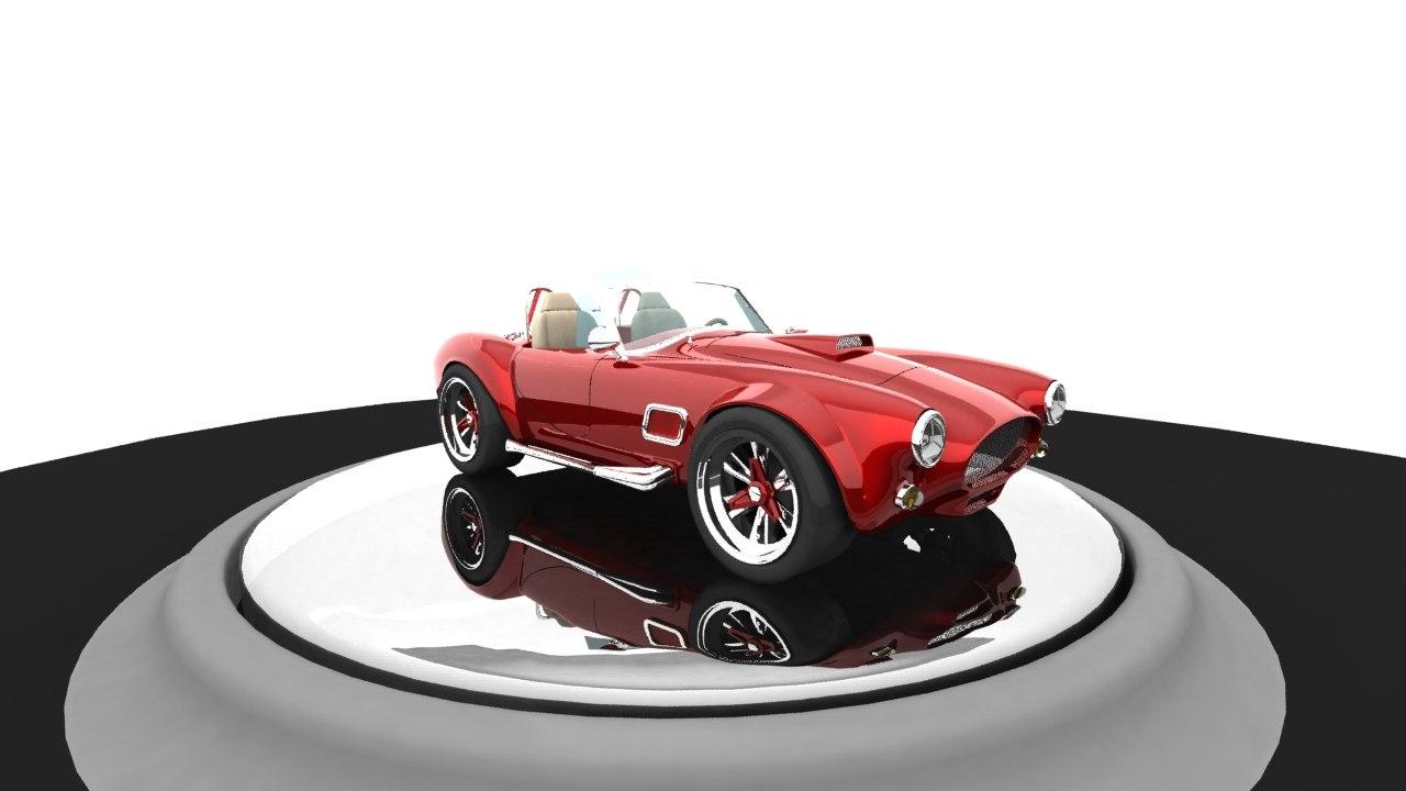 3d model animation standard ac cobra