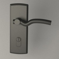 door handle 3d 3ds