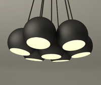 3ds max hanging lamp set design