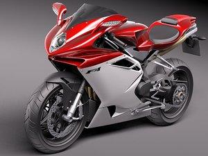 3d model of mv agusta f4 sport bike