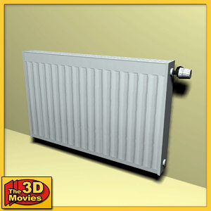 3d model of low-poly heating radiator