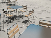 3d model outdoor table chair set