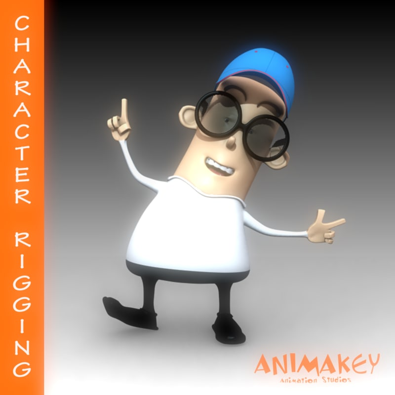 3d blinkin character rigging