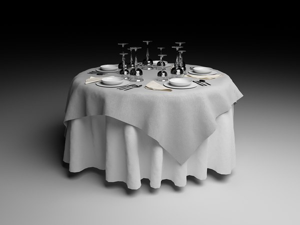 3ds max cloth table