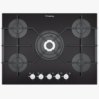 Big Gas Cooktop with Glass Frame