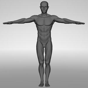 3d model male body