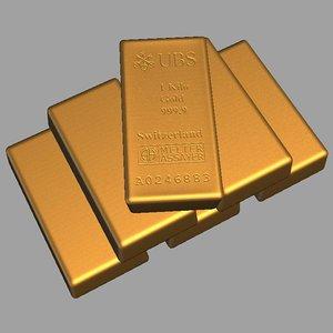 3d model swiss gold