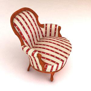 3d classic armchair
