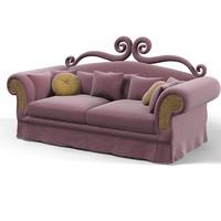 3d model b-glam double sofa