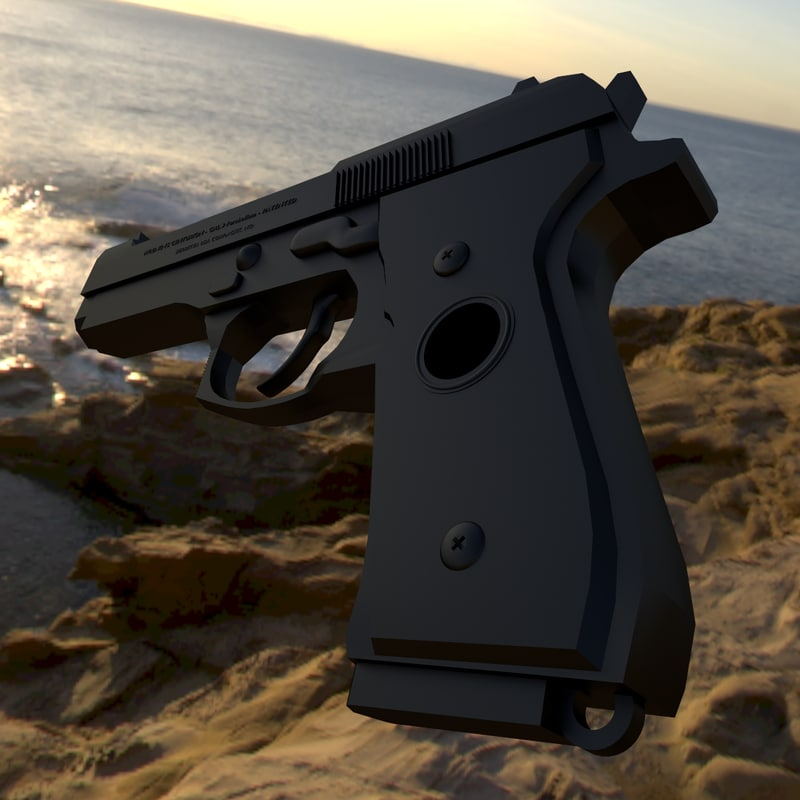 9mm pistol 3d 3ds