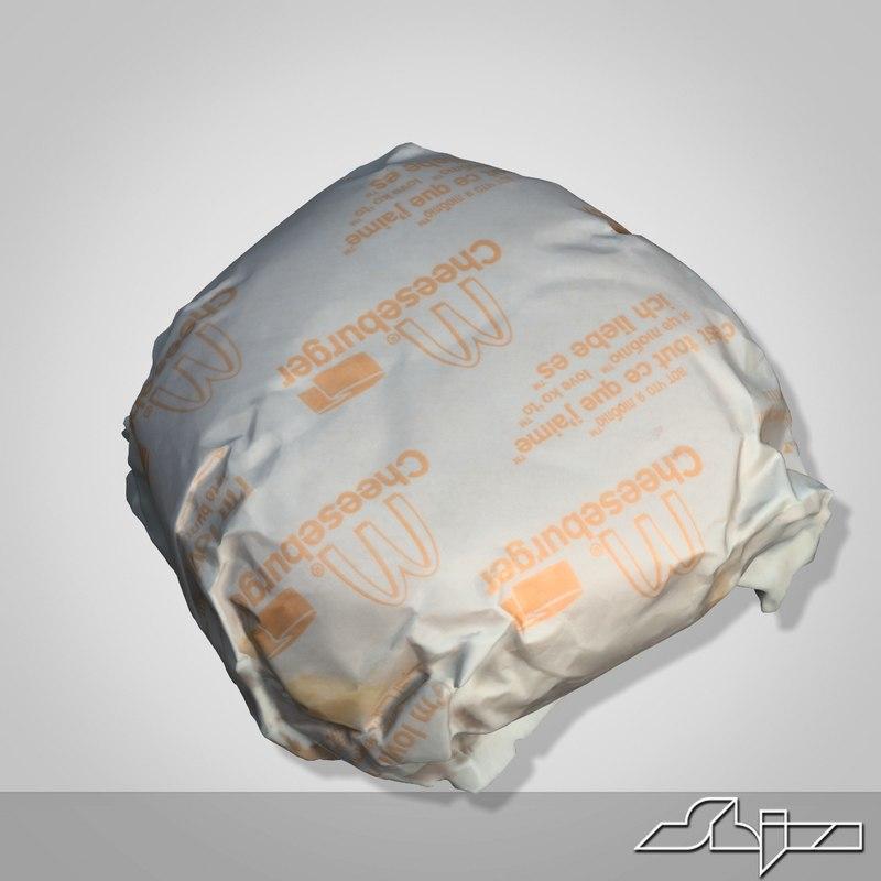 3ds max mcdonalds cheeseburger