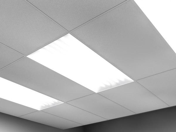2 fluorescent light troughs 3d 3ds