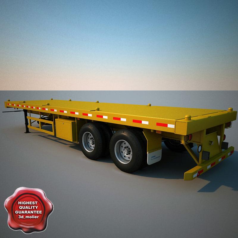 c4d container semi trailer