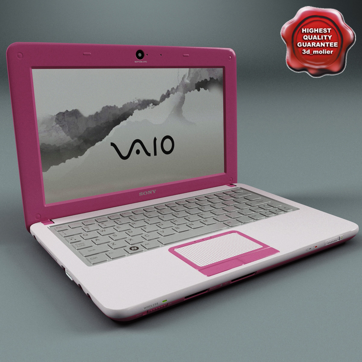 max laptop sony vaio pink