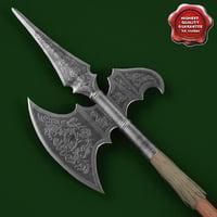 medieval spear v6 c4d
