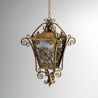 Hanging Wrought Iron Lantern