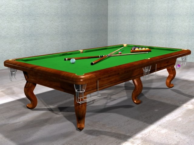 3ds billiard snooker table