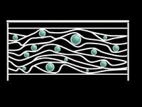 Ocean Wave Railling