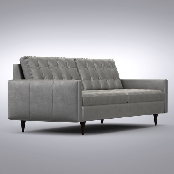 Enjoyable Crate And Barrel Petrie Leather Sofa Gmtry Best Dining Table And Chair Ideas Images Gmtryco