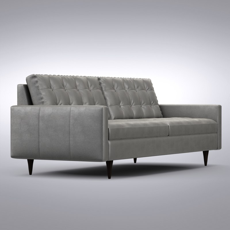 Crate And Barrel   Petrie Leather Sofa