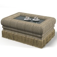 Provasi Hektor Pr2943tav-617 pouf coffee table cocktail traditional  foot stool
