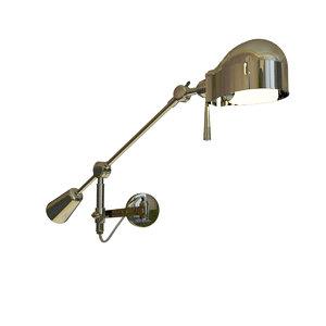 3d model boom arm wall lamp