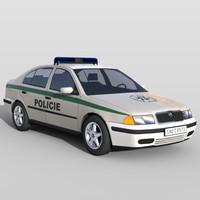 3d model police car