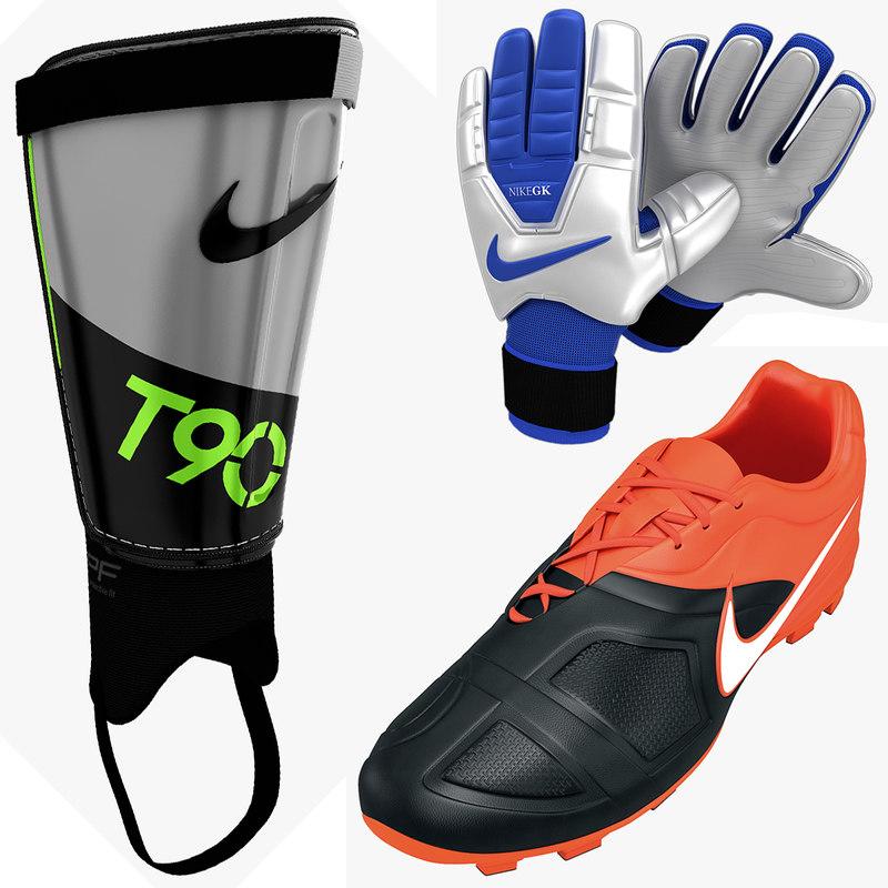 soccer equipment 3d 3ds