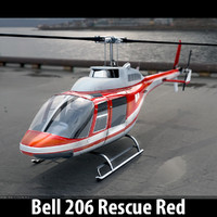 3ds bell 206 helicopter