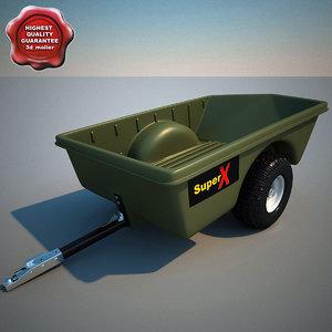 utility trailer v4 3d model