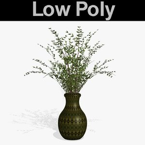 3d model willow branches pl