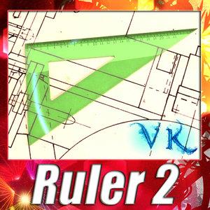 ruler - 3d model