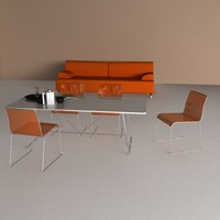 3d chair - table sofa materials