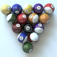 pool balls 3d max