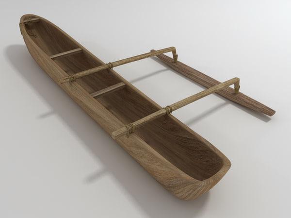 dugout canoe 3d model