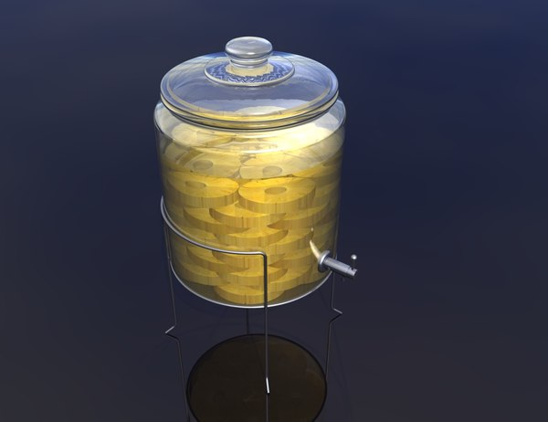 3d model container pineapple infused vodka