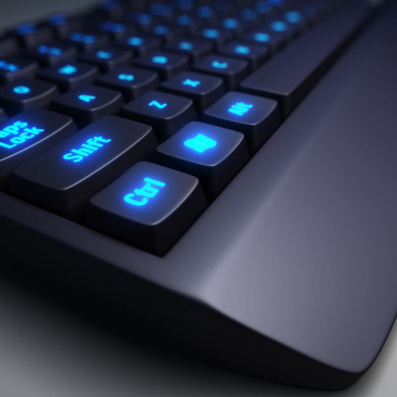 3d pc keyboard