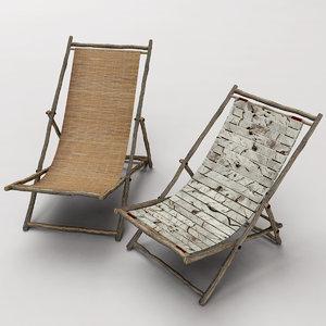 folding beach chairs 3d max